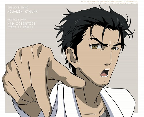 White Fox, Nitro+, Steins Gate, Rintarou Okabe, Vector Art