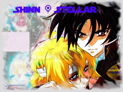 Sunrise (Studio), Mobile Suit Gundam SEED Destiny, Shinn Asuka, Stellar Loussier Wallpaper
