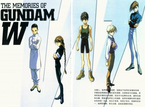 Mobile Suit Gundam Wing, Trowa Barton, Quatre Raberba Winner, Heero Yuy, Duo Maxwell
