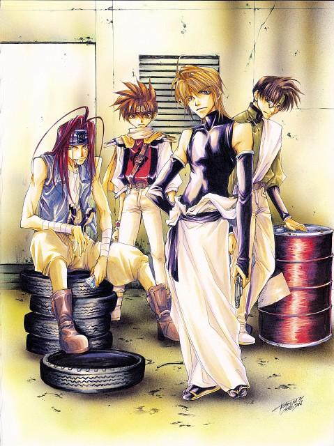 Kazuya Minekura, Studio Pierrot, Saiyuki, Backgammon 1, Sha Gojyo
