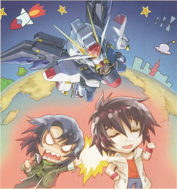 RGB, Mobile Suit Gundam SEED Destiny, Shinn Asuka, Athrun Zala, Newtype Magazine