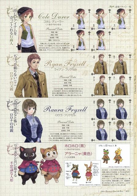 Mel Kishida, Gust, Atelier Rorona & Totori Art Book, Atelier Rorona, Character Sheet