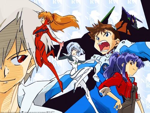 Yoshiyuki Sadamoto, Gainax, Neon Genesis Evangelion, Shinji Ikari, Asuka Langley Soryu Wallpaper