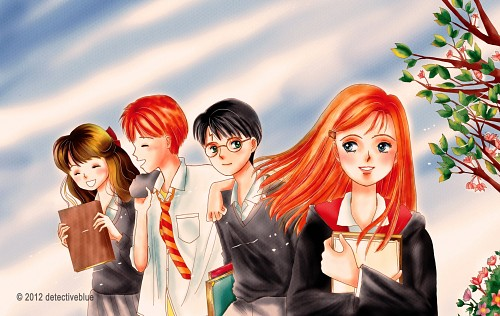 Harry Potter, Ginny Weasley, Ron Weasley, Hermione Granger, Harry Potter (Character)