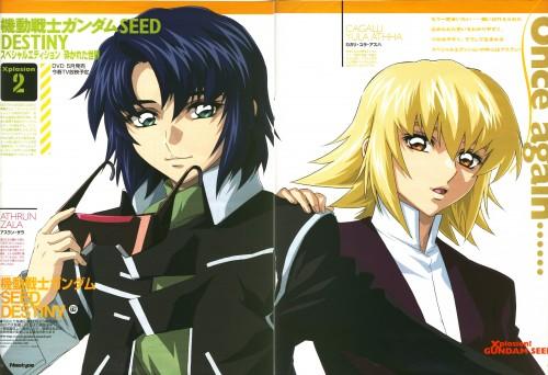 Sunrise (Studio), Mobile Suit Gundam SEED Destiny, Cagalli Yula Athha, Athrun Zala, Magazine Page