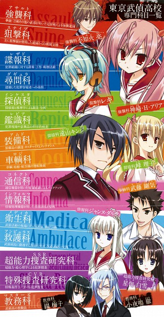 Hidan no Aria, Riko Mine, Shirayuki Hotogi, Aria Holmes Kanzaki, Reki (Hidan no Aria)