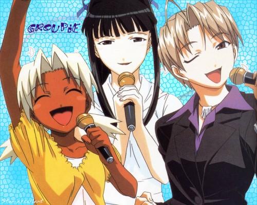 Ken Akamatsu, Love Hina, Mitsune Konno, Motoko Aoyama, Kaolla Su Wallpaper