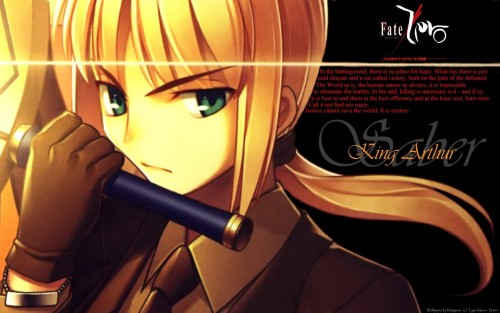 Takashi Takeuchi, Ufotable, TYPE-MOON, Fate/Zero, Saber Wallpaper