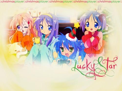 Lucky Star, Kagami Hiiragi, Konata Izumi, Tsukasa Hiiragi, Miyuki Takara Wallpaper