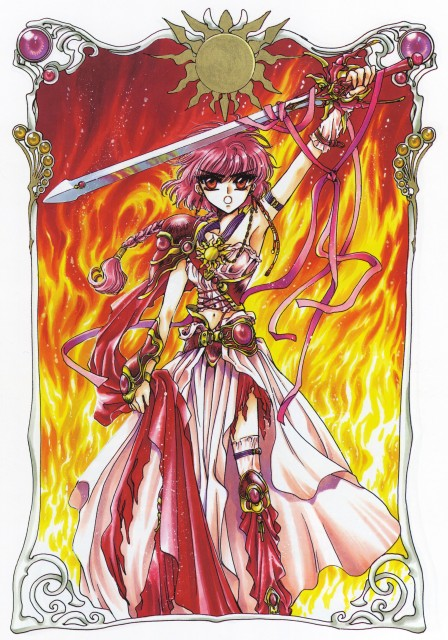 CLAMP, Magic Knight Rayearth, Magic Knight Rayearth Illustrations Collection, Hikaru Shidou