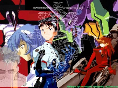 Yoshiyuki Sadamoto, Neon Genesis Evangelion, Shinji Ikari, Rei Ayanami, Asuka Langley Soryu Wallpaper