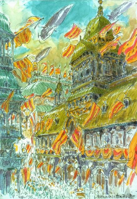 Hayao Miyazaki, Studio Ghibli, Howl's Moving Castle, Moebius Exhibition Catalogue