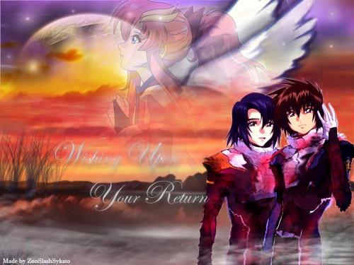 Sunrise (Studio), Mobile Suit Gundam SEED Destiny, Lacus Clyne, Athrun Zala, Kira Yamato Wallpaper