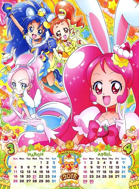 Toei Animation, Kirakira Precure A La Mode, Cure Custard, Cure Gelato, Cure Whip