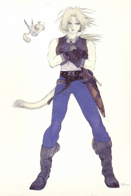 Yoshitaka Amano, Square Enix, Final Fantasy IX Postcard Book, Final Fantasy IX, Zidane Tribal