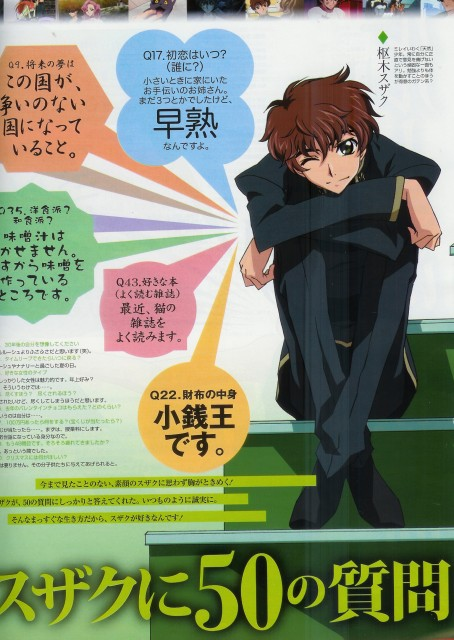 Takahiro Kimura, Sunrise (Studio), Lelouch of the Rebellion, Suzaku Kururugi