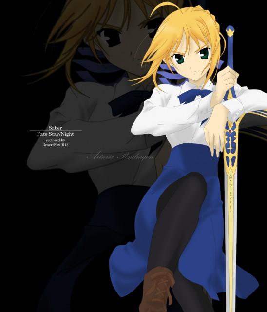 TYPE-MOON, Fate/stay night, Saber, Vector Art