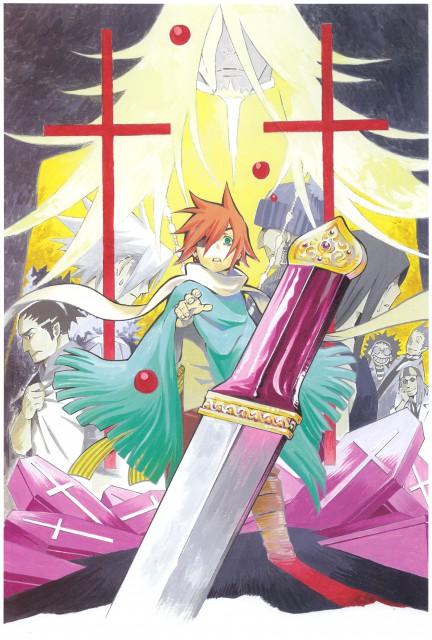 Katsura Hoshino, D Gray-Man, Noche - D.Gray-man Illustrations, Reever Wenham, Cross Marian