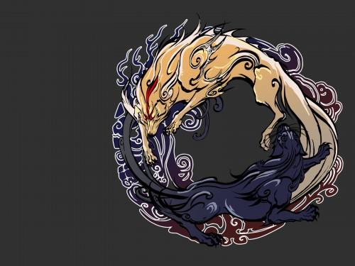 Okami, Amaterasu Wallpaper