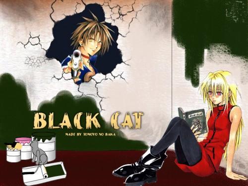 Kentaro Yabuki, Black Cat, Eve, Train Heartnet Wallpaper