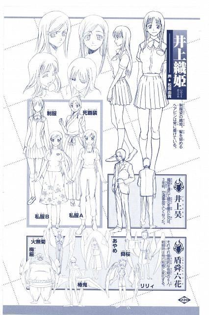 Studio Pierrot, Bleach, Orihime Inoue, Character Sheet