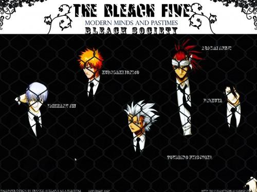 Kubo Tite, Studio Pierrot, Bleach, Gin Ichimaru, Byakuya Kuchiki Wallpaper