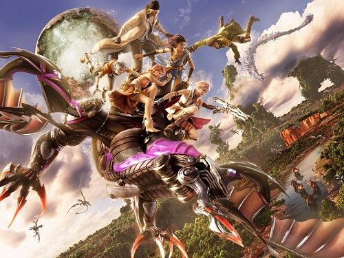 Square Enix, Final Fantasy XIII, Lightning (FF XIII), Snow Villiers, Hope Estheim