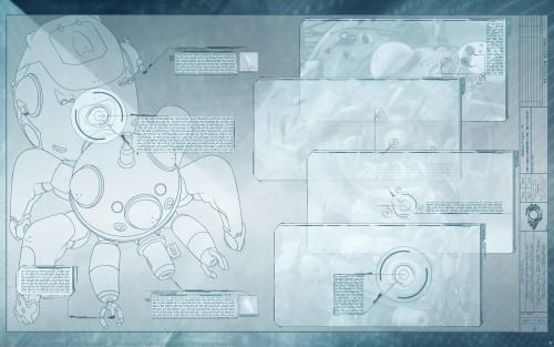 Masamune Shirow, Ghost in the Shell, Tachikoma, Character Sheet Wallpaper