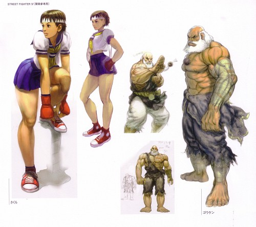 Capcom, Street Fighter 20th Anniversary Artworks, Rival Schools, Street Fighter, Gouken