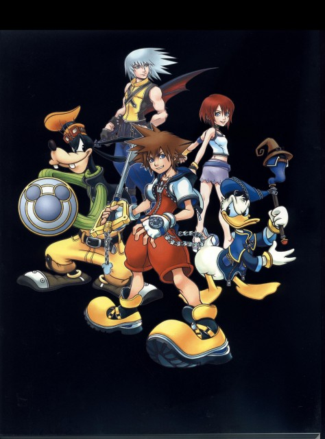 Square Enix, Kingdom Hearts, Donald Duck, Kairi, Riku