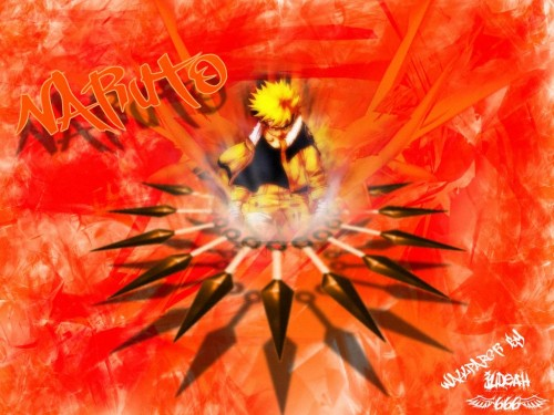 Masashi Kishimoto, Studio Pierrot, Naruto, Naruto Kyuubi Mode Wallpaper