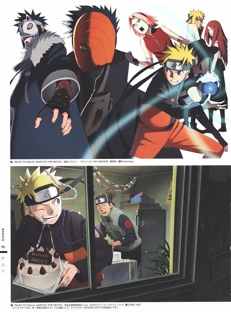 Naruto, The Art of Tetsuya Nishio: Full Spectrum, Iruka Umino, Obito Uchiha, Sakura Haruno
