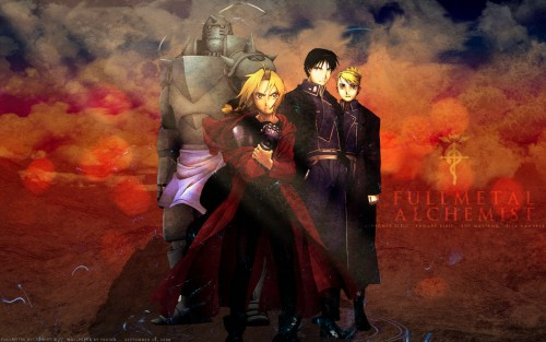 Hiromu Arakawa, BONES, Fullmetal Alchemist, Edward Elric, Roy Mustang Wallpaper