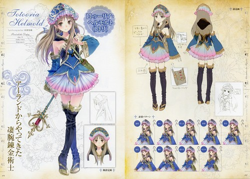 Mel Kishida, Gust, Atelier Meruru, Totooria Helmold, Character Sheet
