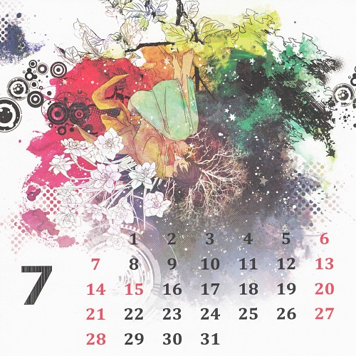 Gusari, Hetalia: Axis Powers, Hetalia Shishou Calendar 2013-2014, Japan, Calendar