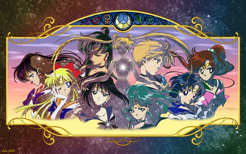 Toei Animation, Bishoujo Senshi Sailor Moon, Sailor Saturn, Sailor Uranus, Sailor Pluto Wallpaper