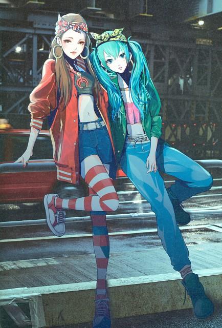 YKBX, Illustration 2017, Vocaloid, Miku Hatsune, Namie Amuro