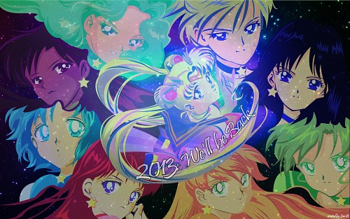 Toei Animation, Bishoujo Senshi Sailor Moon, Sailor Pluto, Sailor Jupiter, Sailor Saturn Wallpaper