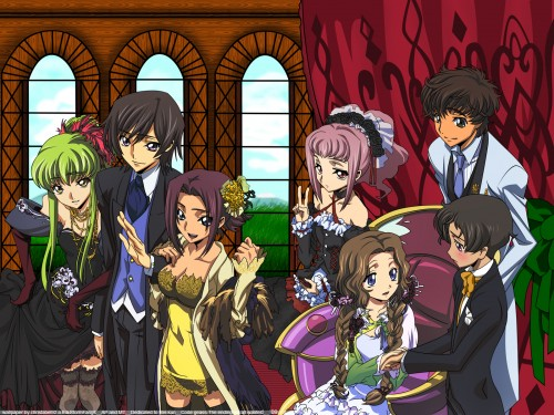 Sunrise (Studio), Lelouch of the Rebellion, Nunnally Lamperouge, Kallen Stadtfeld, Suzaku Kururugi Wallpaper