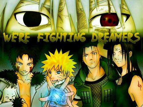 Masashi Kishimoto, Studio Pierrot, Naruto, Neji Hyuuga, Akamaru (Naruto) Wallpaper