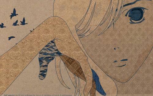 Tomo Matsumoto, Bija ga Yaju, Misao Kurakawa, Vector Art Wallpaper
