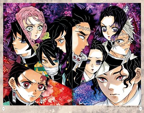 Koyoharu Gotouge, Kimetsu no Yaiba, Gyoumei Himejima, Shinobu Kochou, Muzan Kibutsuji