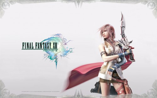 Square Enix, Final Fantasy XIII, Lightning (FF XIII), Official Wallpaper