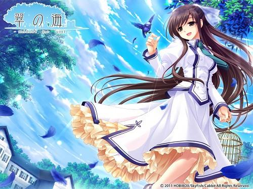 Saeki Hokuto, Cabbit, Midori no Umi, Michiru (Midori No Umi), Official Wallpaper