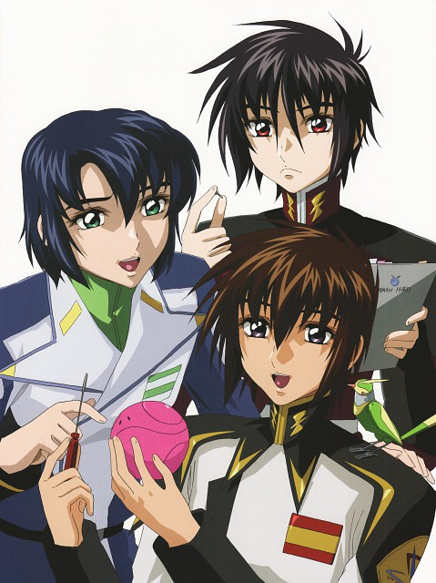Sunrise (Studio), Mobile Suit Gundam SEED Destiny, Mobile Suit Gundam Seed & Seed Destiny Pinup Collection, Shinn Asuka, Athrun Zala