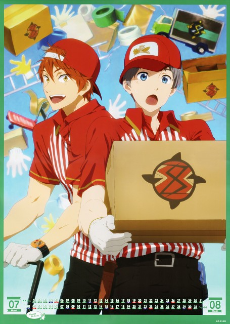 Kyoto Animation, Free!, Free! -Eternal Summer- Calendar 2015, Aiichiro Nitori, Momotarou Mikoshiba