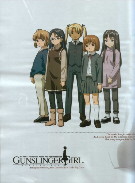Madhouse, Gunslinger Girl, Henrietta, Triela, Angelica (Gunslinger Girl)