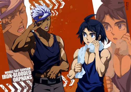 Sunrise (Studio), Mobile Suit Gundam: Iron-Blooded Orphans, Mikazuki Augus, Orga Itsuka, Otomedia