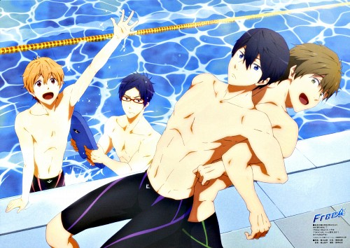 Kyoto Animation, Free!, Haruka Nanase (Free!), Nagisa Hazuki, Makoto Tachibana