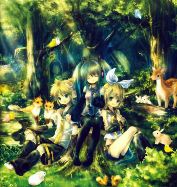 Onineko, Hatsune Gensou, Vocaloid, Len Kagamine, Rin Kagamine